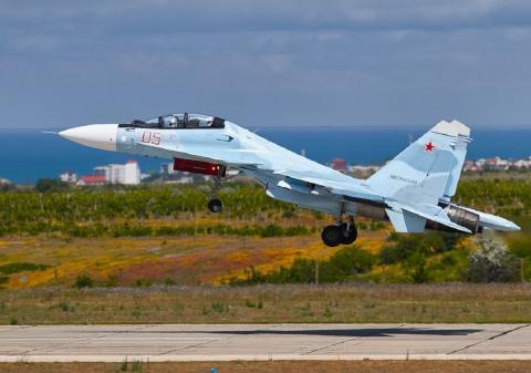 В Чёрное море рухнул истребитель Су-27