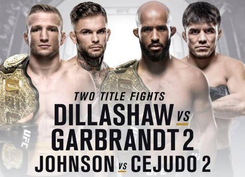 Турнир UFC 227 в Лос-Анджелесе: когда – время проведения 4-5 августа 2018, полный кард, бои Диллашоу – Грабрант, Джонсон – Сехудо и другие, где смотреть прямую трансляцию