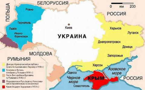 Старая карта Украины