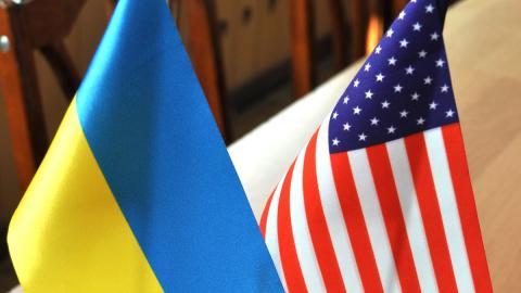 флаги Украины и США картинка