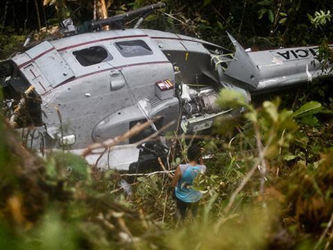 Вертолёт разбился
