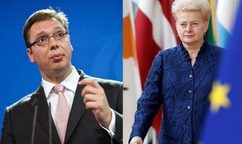 Грибаускайте потребовала от Сербии ухудшения отношений с РФ