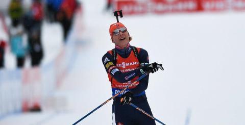 Олимпиада, биатлон 12 февраля, женская гонка преследования, итоги