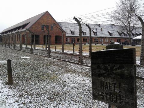 Израильтянин справил малую нужду в Освенциме