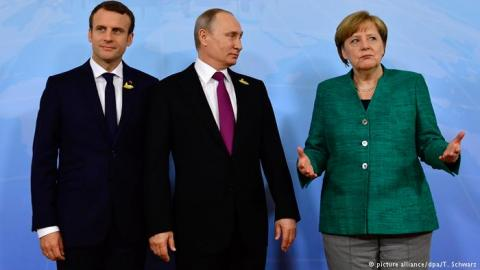 «Не дождутся»: о чём Путин не станет говорить с Меркель и Макроном, раскрыли в Кремле
