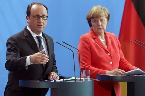 Озвучена главная тема встречи Меркель и Олланда в Берлине