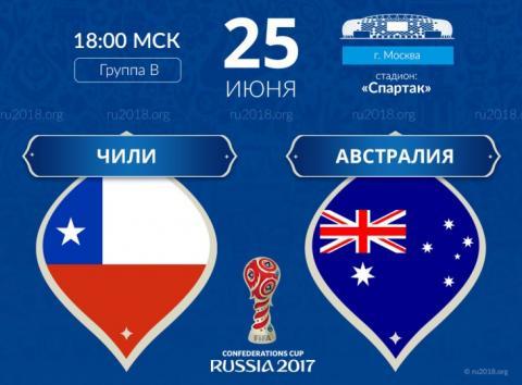 Чили – Австралия 25 июня 2017 – прогноз на матч, ставки и коэффициенты, статистика встреч