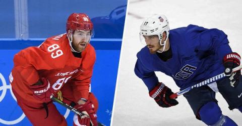 Россия - США, хоккей 17 февраля