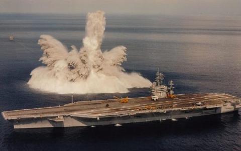 В КНДР уничтожили американский авианосец