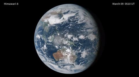 NASA опубликовало видео зловещей тени, пересекающей Землю