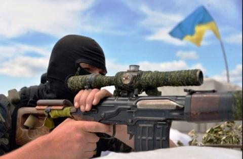 Украинский снайпер