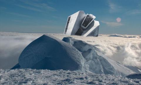 В Антарктиде обнаружен корабль инопланетян, попавших в беду