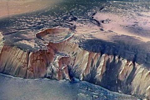 На Марсе гигантский инопланетный отпечаток открыл глаза на таинственное прошлое планеты