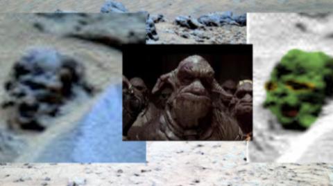 На Марсе голова «марсианского чудовища» укрепляет уфологов в вере