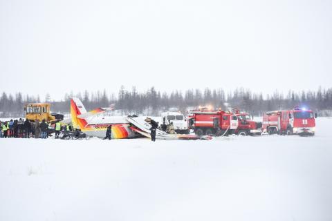 Самолет упал в НАО