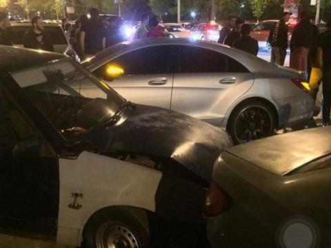 ДТП с 4 автомобилями произошло в Ростове-на-Дону