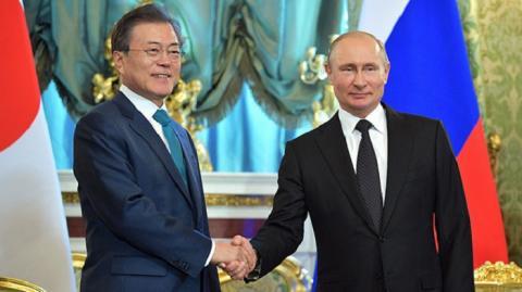 Президент России И Южной Кореи