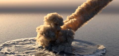 В США горящий инопланетный корабль упал в океан – уфологи