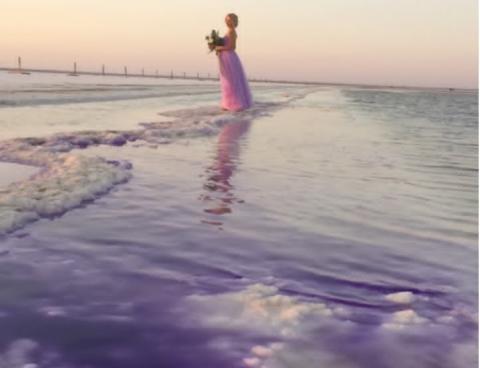 Астраханское озеро Баскунчак сменило цвет, раскрыта причина