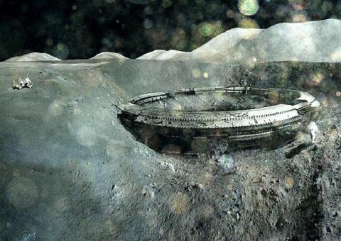 На Луне обнаружили корабль пришельцев, скрывающийся в кратере