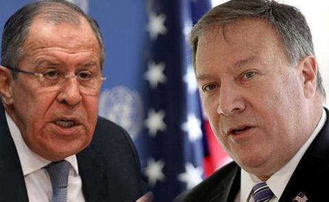 Глава МИДа РФ предупредил М. Помпео о негативных последствиях новых антироссийских санкций