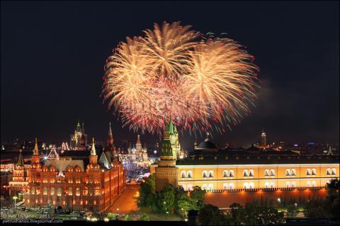 Салют 12 июня 2018 в День России в Москве