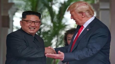 Трамп пошутил, что они с Ким Чен Ыном «полюбили» друг друга