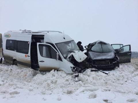В Ставрополье в ДТП Kia Sportage протаранил автобус  – погиб водитель