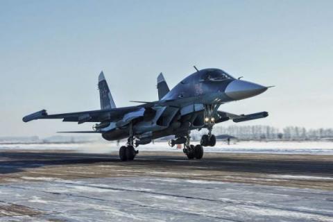 На Дону прошли лётные учения бомбардировщиков Су-34