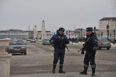 Нападение на полицейских в Чечне