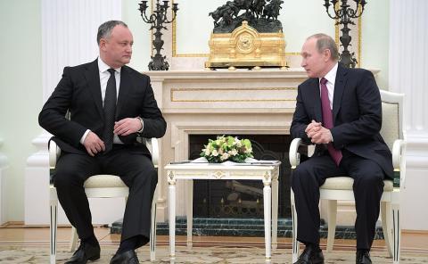 Додон после встречи с Путиным отказался признать Крым российским
