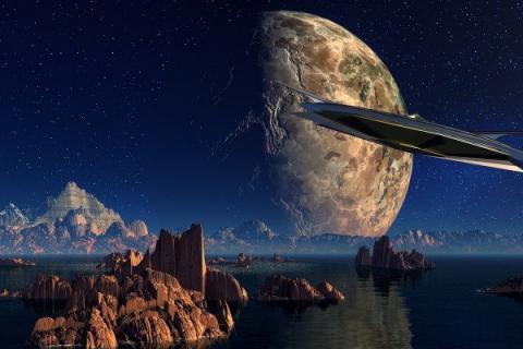На Луне гигантское замаскированное судно инопланетян подтверждает тайные намерения гуманоидов