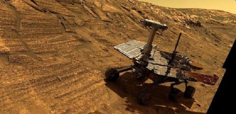 NASA показало последние фото, снятые марсоходом Opportunity