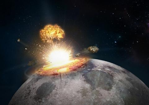 Предвестник Апокалипсиса: Луну потряс мощный взрыв, который был виден даже с Земли