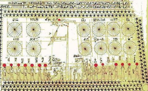 Загадочная звездная карта обнаружена на потолке гробницы Сенмута