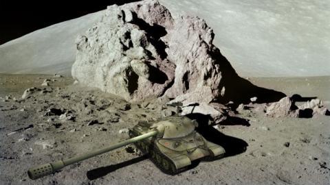 Уфолог обнаружил на Луне древний танк