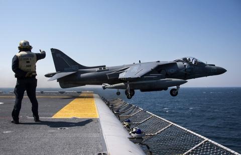 В Северной Каролине разбился военный самолёт