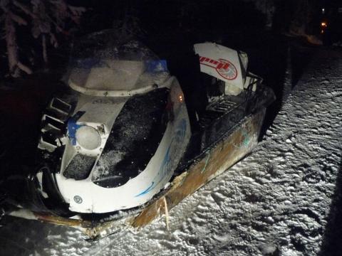 ДТП со снегоходом