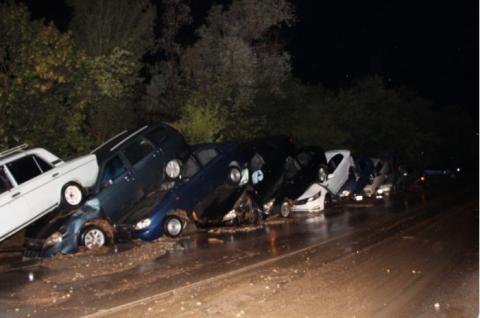 Машины после селя