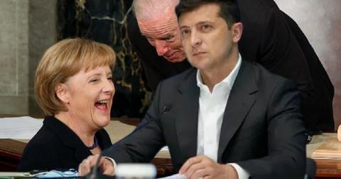 Политологи оценили планы «устранения» Зеленского США и Германией