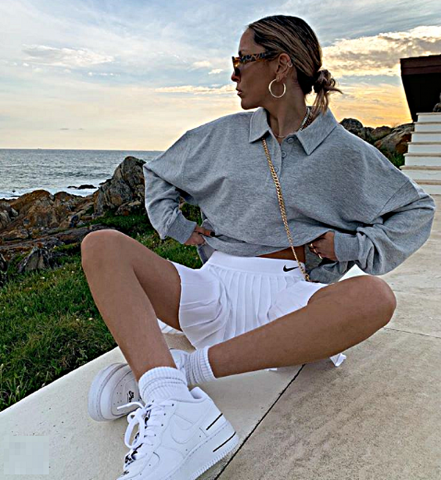 Теннисная юбка — модный тренд из Instagram