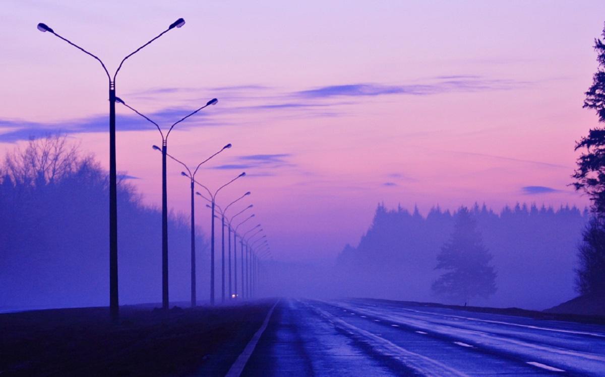 Сиреневый туман опустился на Тулу