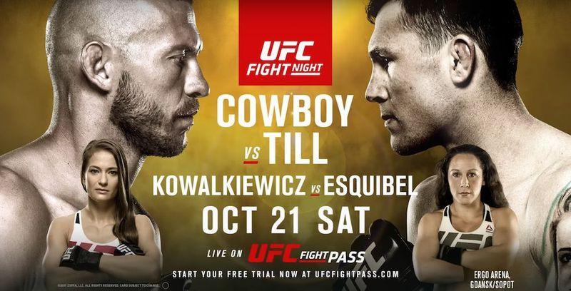 Турнир UFC Fight Night 118 21 октября: когда – время, кард боев, где смотреть прямую трансляцию