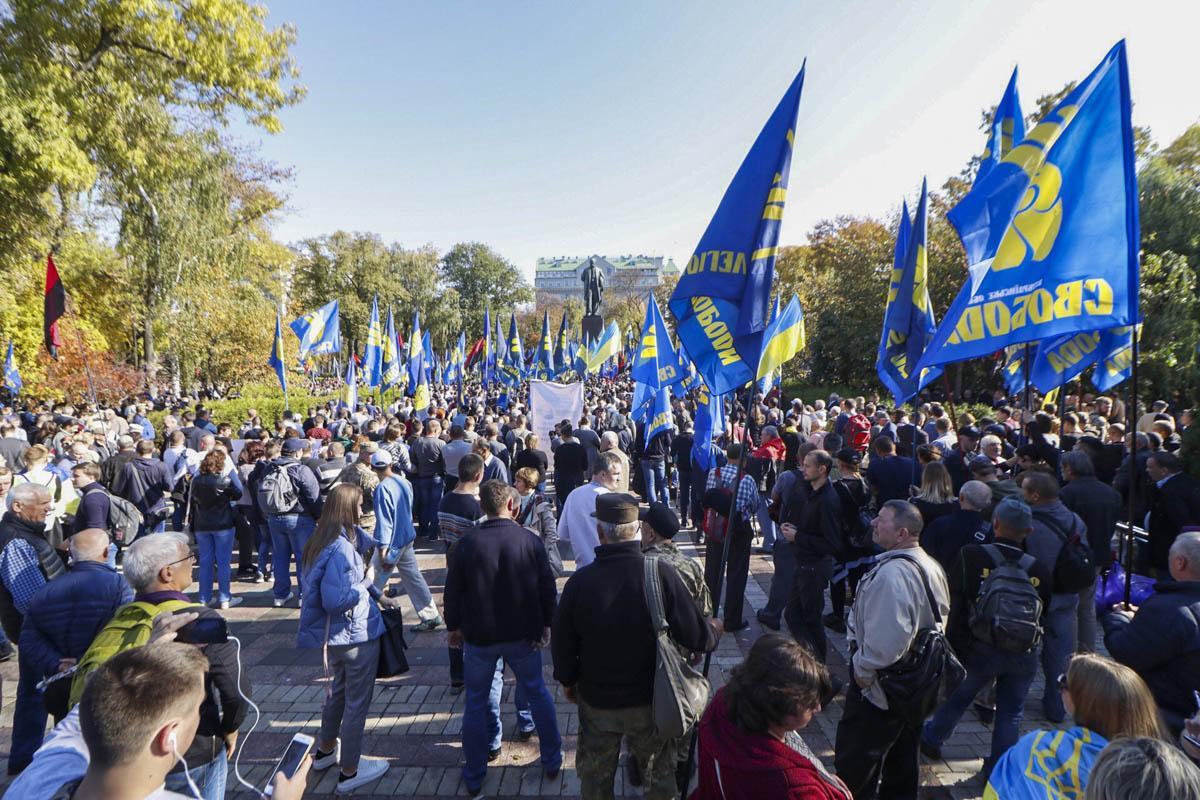 В Киеве участник марша назвал украинскими Кубань и Дон