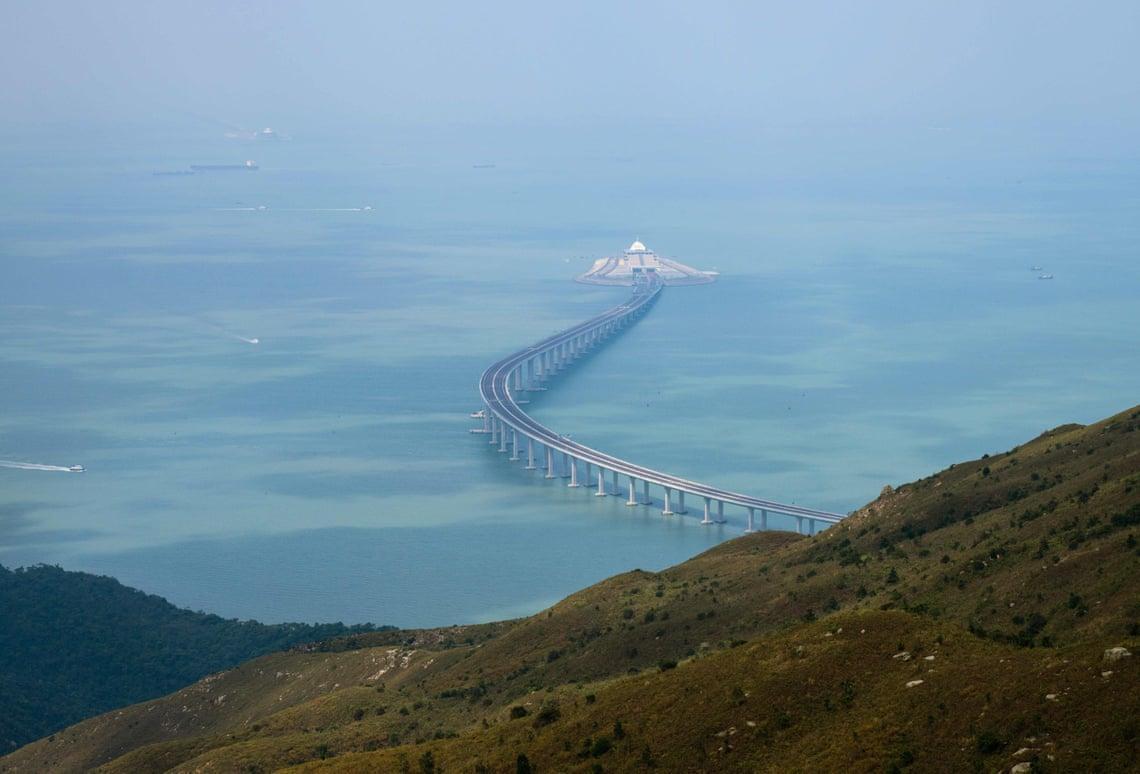 мост из Гонконга в Макао