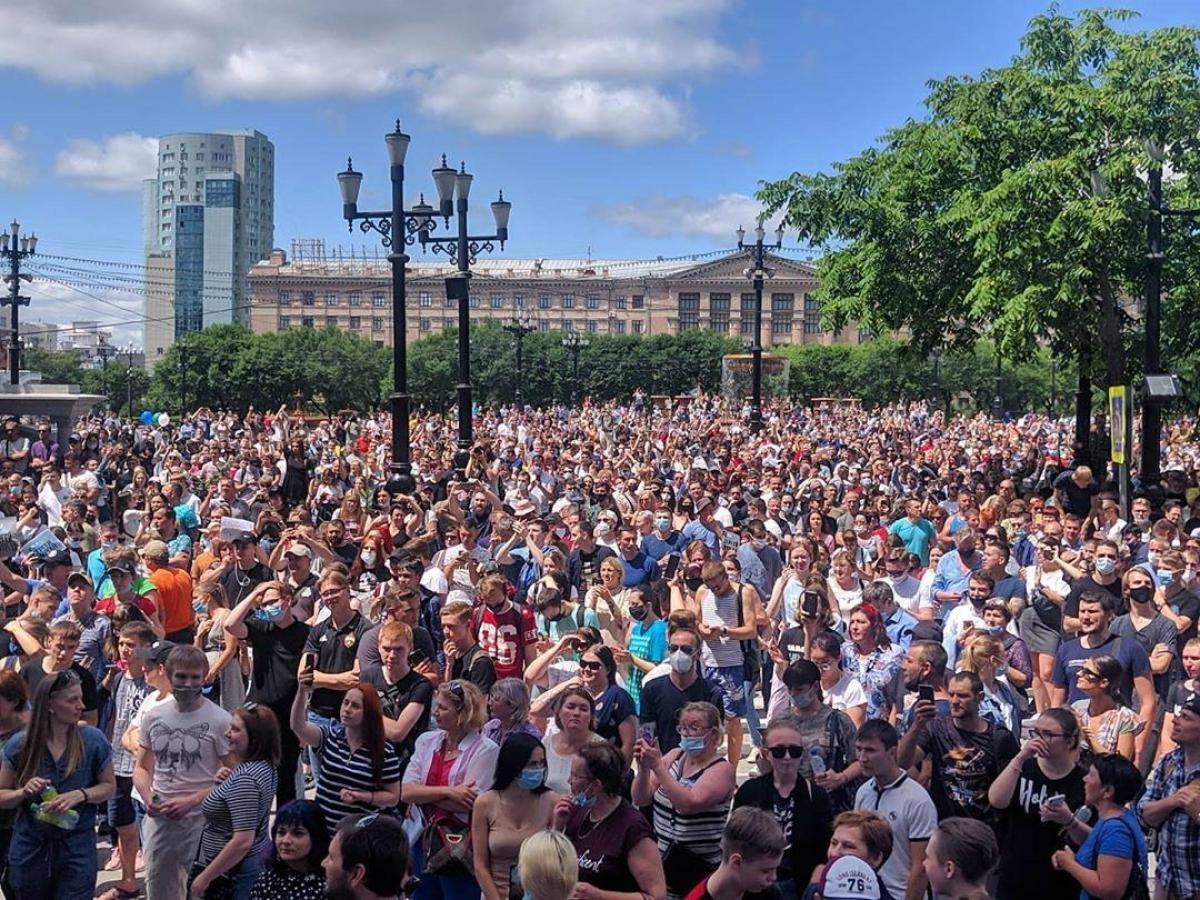 митинг в Хабаровске