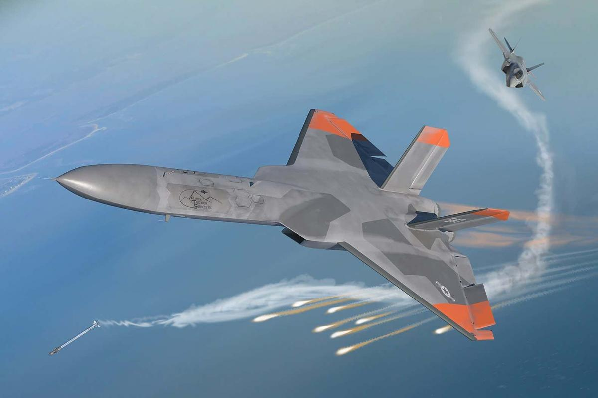 Американский беспилотник 5GAT, «копия» российского Су-57 разбился в ходе испытаний