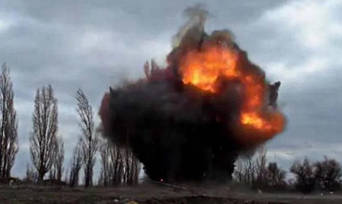 Взрыв под Донецком