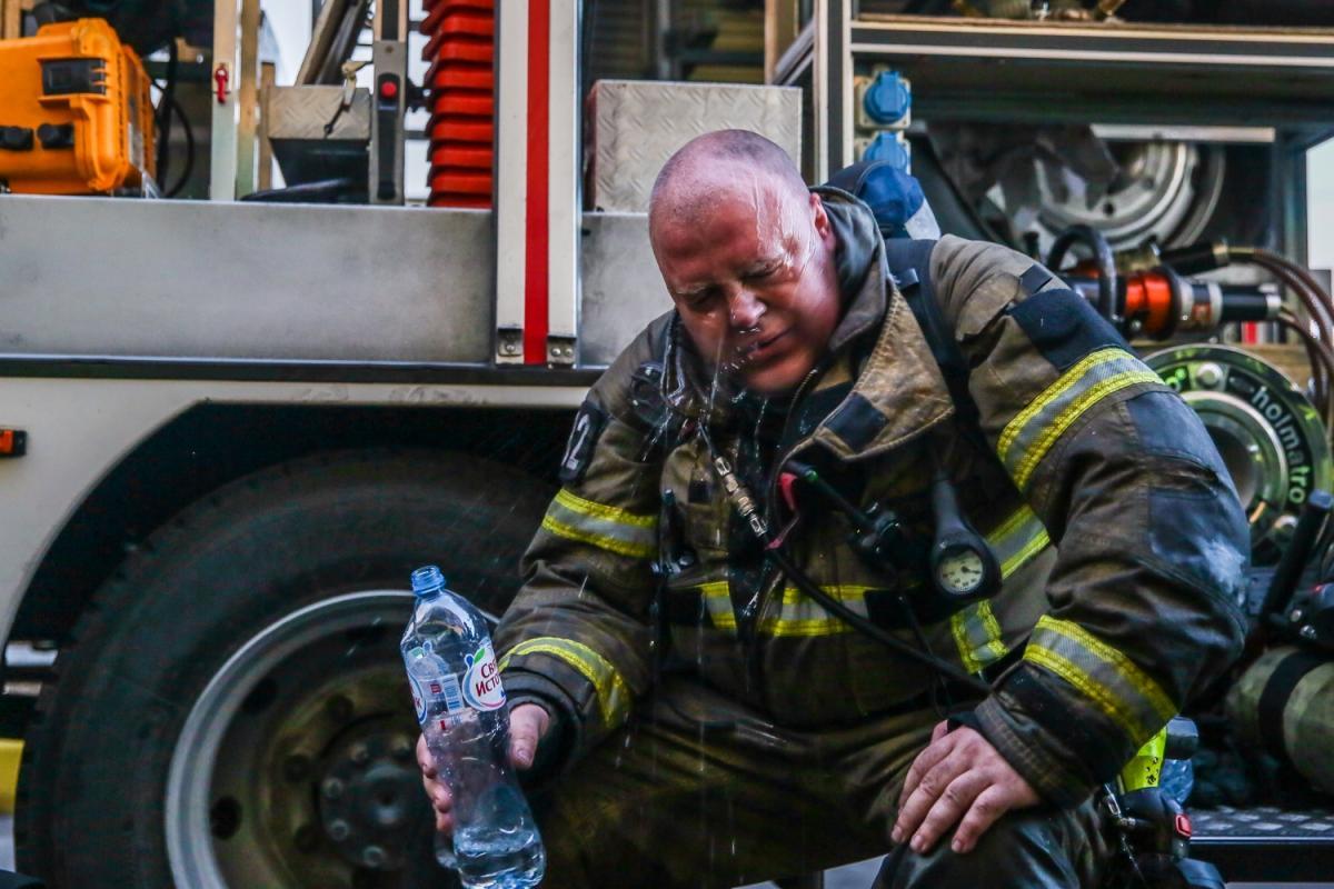 Пожар кровли многоэтажки в Краснодаре 12 сентября 2020