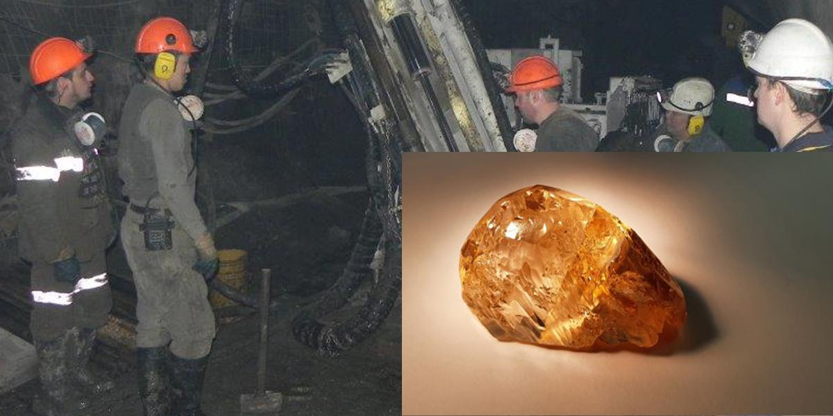 Самый крупный цветной алмаз в России нашли в Якутии